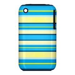 Stripes Yellow Aqua Blue White Iphone 3s/3gs