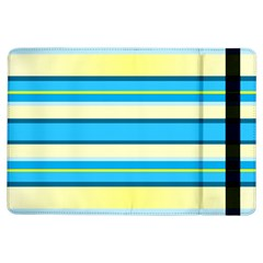 Stripes Yellow Aqua Blue White Ipad Air Flip by BangZart