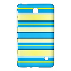 Stripes Yellow Aqua Blue White Samsung Galaxy Tab 4 (8 ) Hardshell Case