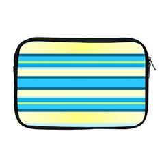 Stripes Yellow Aqua Blue White Apple Macbook Pro 17  Zipper Case