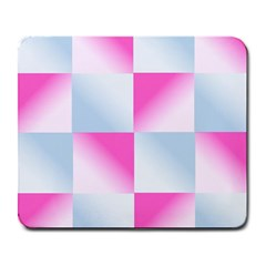 Gradient Blue Pink Geometric Large Mousepads