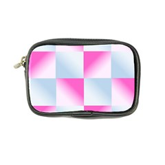 Gradient Blue Pink Geometric Coin Purse