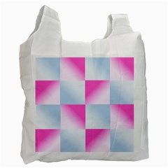 Gradient Blue Pink Geometric Recycle Bag (two Side)  by BangZart