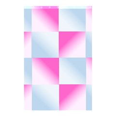 Gradient Blue Pink Geometric Shower Curtain 48  X 72  (small)  by BangZart