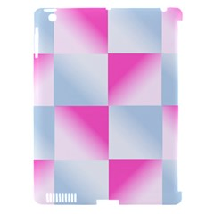 Gradient Blue Pink Geometric Apple Ipad 3/4 Hardshell Case (compatible With Smart Cover)
