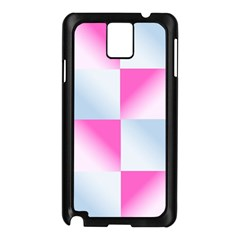 Gradient Blue Pink Geometric Samsung Galaxy Note 3 N9005 Case (black)
