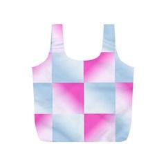 Gradient Blue Pink Geometric Full Print Recycle Bags (s)