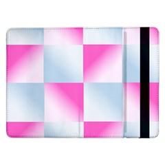 Gradient Blue Pink Geometric Samsung Galaxy Tab Pro 12 2  Flip Case