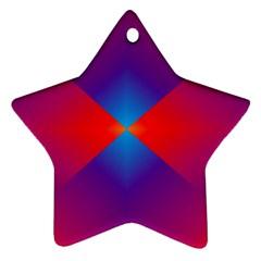 Geometric Blue Violet Red Gradient Ornament (star)