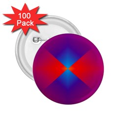 Geometric Blue Violet Red Gradient 2 25  Buttons (100 Pack)