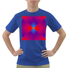 Geometric Blue Violet Red Gradient Dark T Shirt
