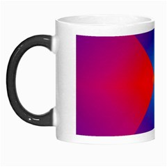 Geometric Blue Violet Red Gradient Morph Mugs