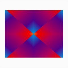 Geometric Blue Violet Red Gradient Small Glasses Cloth