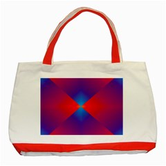 Geometric Blue Violet Red Gradient Classic Tote Bag (red)