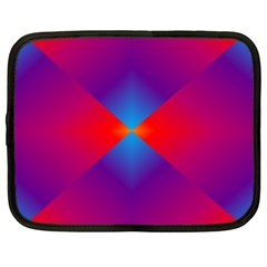 Geometric Blue Violet Red Gradient Netbook Case (xl)  by BangZart