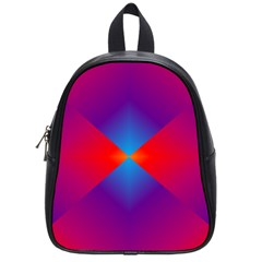 Geometric Blue Violet Red Gradient School Bag (small)