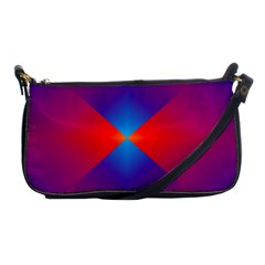 Geometric Blue Violet Red Gradient Shoulder Clutch Bags