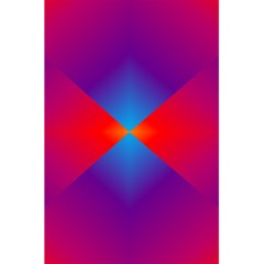 Geometric Blue Violet Red Gradient 5 5  X 8 5  Notebooks by BangZart