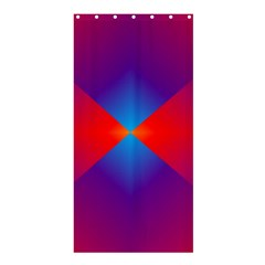 Geometric Blue Violet Red Gradient Shower Curtain 36  X 72  (stall)  by BangZart