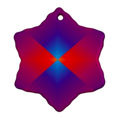 Geometric Blue Violet Red Gradient Snowflake Ornament (two Sides)