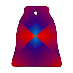 Geometric Blue Violet Red Gradient Bell Ornament (two Sides) by BangZart