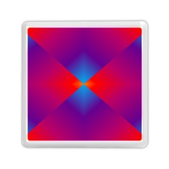 Geometric Blue Violet Red Gradient Memory Card Reader (square)