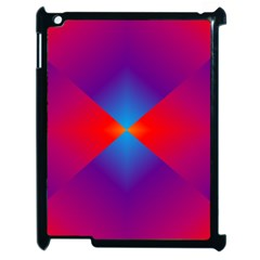 Geometric Blue Violet Red Gradient Apple Ipad 2 Case (black)