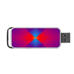 Geometric Blue Violet Red Gradient Portable Usb Flash (two Sides)