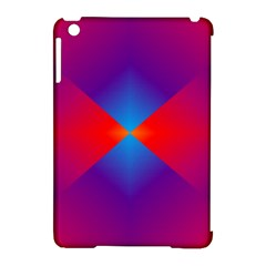 Geometric Blue Violet Red Gradient Apple Ipad Mini Hardshell Case (compatible With Smart Cover)