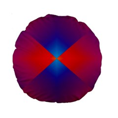 Geometric Blue Violet Red Gradient Standard 15  Premium Round Cushions