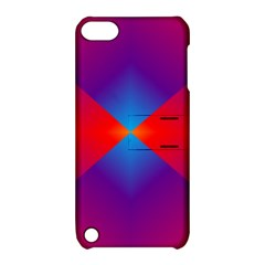 Geometric Blue Violet Red Gradient Apple Ipod Touch 5 Hardshell Case With Stand
