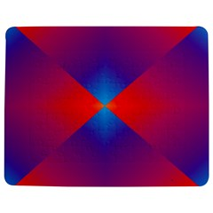 Geometric Blue Violet Red Gradient Jigsaw Puzzle Photo Stand (rectangular) by BangZart