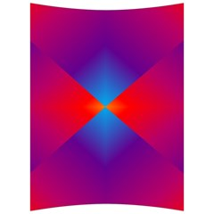 Geometric Blue Violet Red Gradient Back Support Cushion by BangZart