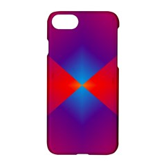 Geometric Blue Violet Red Gradient Apple Iphone 8 Hardshell Case