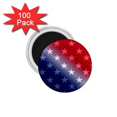 America Patriotic Red White Blue 1 75  Magnets (100 Pack)
