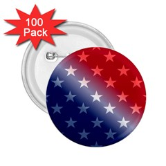America Patriotic Red White Blue 2 25  Buttons (100 Pack)