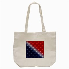 America Patriotic Red White Blue Tote Bag (cream)