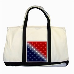 America Patriotic Red White Blue Two Tone Tote Bag