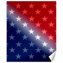 America Patriotic Red White Blue Canvas 16  X 20