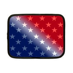 America Patriotic Red White Blue Netbook Case (small)