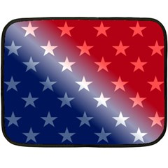 America Patriotic Red White Blue Double Sided Fleece Blanket (mini)