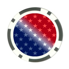 America Patriotic Red White Blue Poker Chip Card Guard (10 Pack) by BangZart