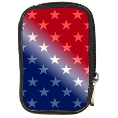America Patriotic Red White Blue Compact Camera Cases by BangZart