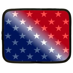 America Patriotic Red White Blue Netbook Case (xxl)