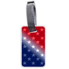 America Patriotic Red White Blue Luggage Tags (one Side)