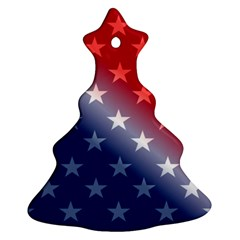 America Patriotic Red White Blue Christmas Tree Ornament (two Sides)