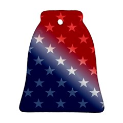 America Patriotic Red White Blue Bell Ornament (two Sides)