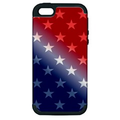 America Patriotic Red White Blue Apple Iphone 5 Hardshell Case (pc+silicone)