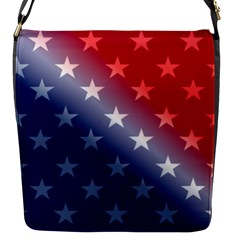 America Patriotic Red White Blue Flap Messenger Bag (s) by BangZart