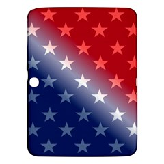 America Patriotic Red White Blue Samsung Galaxy Tab 3 (10 1 ) P5200 Hardshell Case